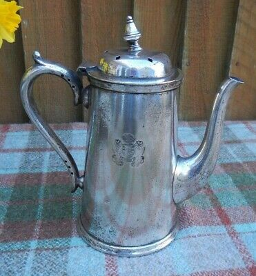 1920s ROYAL MAIL STEAMSHIP COMPANY MAPPIN WEBB COFFEE POT~PER MARE UBIQUE CREST