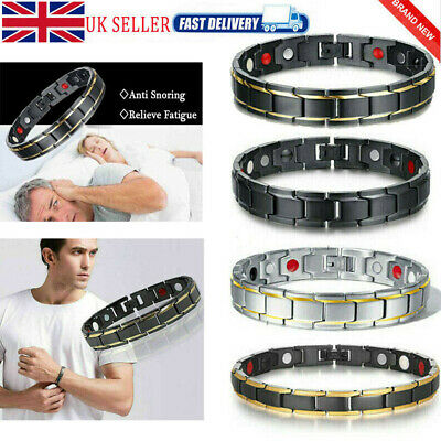 Therapeutic Energy Healing Titanium Metal Magnetic Bracelet Therapy Wrist Band