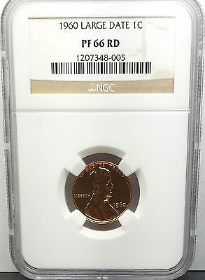 1960 Large Date U.S. Lincoln Cent NGC Certified PF66 RD