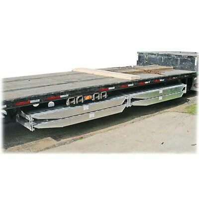 """Semi-Trailer Loading Ramp Storage Brackets for Two 6"""" Thick Ramps - 16"""" Wide, B"""