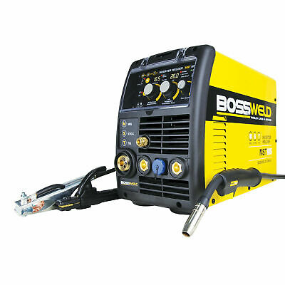 Bossweld 180A MST185 MIG, Stick Arc And TIG Inverter Welder - AUSTRALIA BRAND