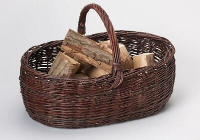 G2209: Fireplace Wooden Basket,Rustic Chimney Basket from Unhulled Pasture,60 Cm