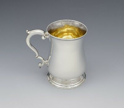George III Silver Beer Mug Whipham & Wright 1766 Tankard Georgian Antique