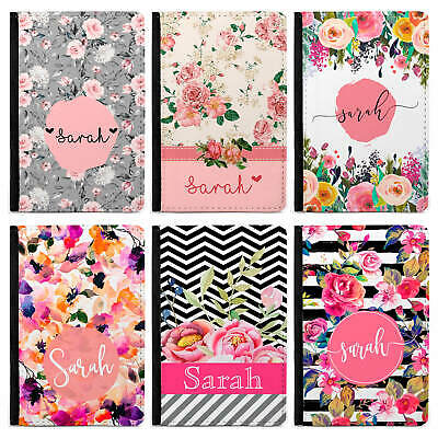 Floral Personalised Passport Cover/Holder, Personalised Luggage Tag PU Leather