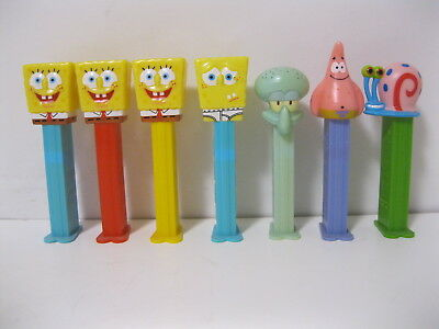 Spongebob Squarepants Pez ~ Underpants, Suit, Patrick,Squidward & Gary