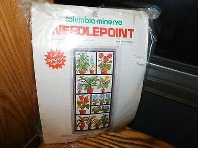 Winter Greenhouse Needlepoint Kit 1974 Meredith Gladstone Columbia Minerva