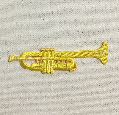 Music Instrument 147-O Trumpet Embroidered Iron On Patch