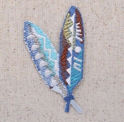 """1 3//4/"""" South Western Bird Feather Embroidery Patch"""