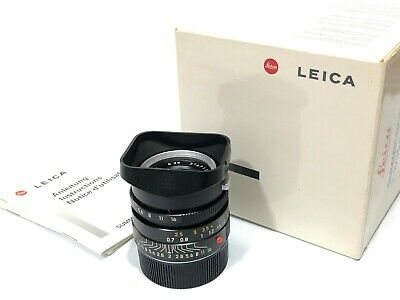Leica SUMMICRON-M 35mm f/2 Aspherical Lens With Box, Filter, Hood From Japan