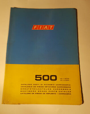 Ersatzteilkatalog / Body Work Parts Catalog Fiat 500 Berlina 1972