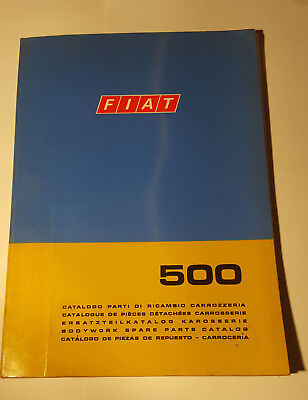 Ersatzteilkatalog / Body Work Parts Catalog Fiat 500 Berlina 1968