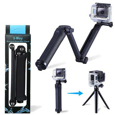 Hand Grip Arm 3 Way Selfie Stick Tripod Mount Monopod for GoPro Hero 1 2 3 3+ 4