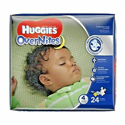 Huggies Overnites Size 4(22-37lbs)24 Count New And Sealed Disney Mickey