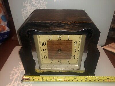 ENFIELD MANTLE CLOCK ART DECO Square Faced Working