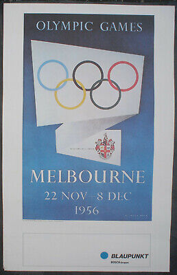 Poster Plakat; Richard Beck signed in the plate; Olympic Games Melbourne 1956