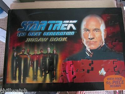 Star Trek Tng Jigsaw Book 4 X 96 Piece Rare 2004 Five Mill Press