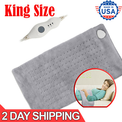 Large Electric Heating Pad King Size XL Back Shoulders Neck Pain Relief Therapy