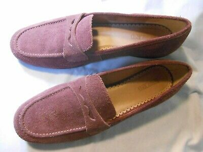 b60a37addb9 LANDS  END Women s Size 10 Medium Pink Suede Leather Comfort Penny Loafer  Shoes