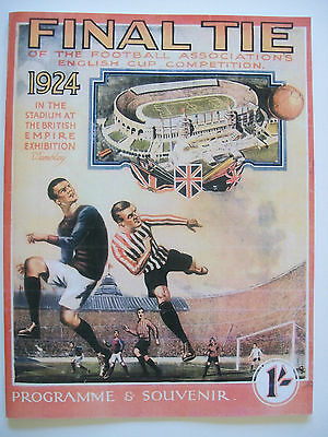 1924 FA Cup Final Newcastle United Aston Villa Poster A3 A2 Print