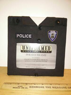 UNIFORMED Collection Black Fabric POLICE Law Enforcement Photo Frame