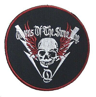 Queens Of The Stone Age Skull Embroidered Circle Patch New Official QOTSA Merch