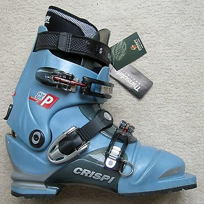 389381a5143 NEW CRISPI CXP Lady Light Blue & Cant Thermo Telemark Boots - 27.0