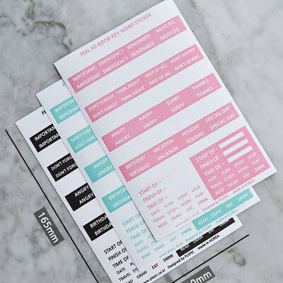 Feel So Good Keyword Label Index Stickers for Diary Planner Scheduler