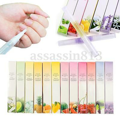 12Pcs Mix Taste Cuticle Revitalizer Oil Pen Nail Art Care Treatment Manicure