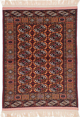 "Hand-knotted Russian Carpet 4'1"" x 5'8"" Shiravan Bokhara Traditional Wool Rug"