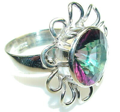 Magic Topaz Ring size: 11 925 Sterling Silver + Free Shipping  by SilverRush Sty