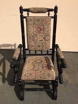 Vintage victorian platform rocking chair very good condition!