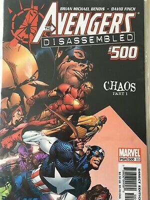 Avengers Disassembled #500-503 + finale Complete Bendis Finch 1st printings NM