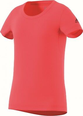 adidas Performance Mädchen Sport Fitness Shirt T-Shirt Prime Tee real coral
