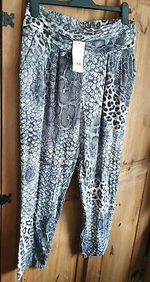 Dorothy perkins reptile print trousers size 12 bnwt rrp £29