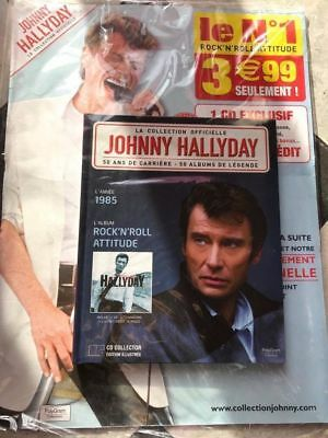JOHNNY HALLYDAY LIVRE ET CD 1985 ROCK N ROLL ATTITUDE scéllé