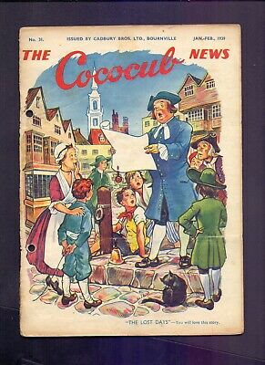 16 Page The Cococub News No 31,issued by Cadbury Bournville Jan-Feb 1939 (YT1)