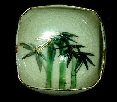 Stunning Antique Japanese Meiji Small Satsuma Bowl with Bamboo, c1900.
