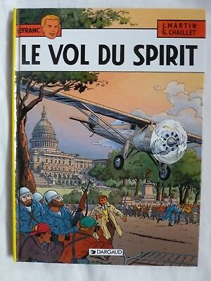 Lefranc, tome 13 : Le Vol du Spirit hb VGC Martin & Chaillet French graphic bk