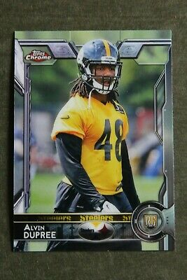 745de7947 Alvin Bud Dupree 2015 Topps Chrome RC Pittsburgh Steelers Kentucky Wildcats