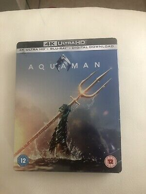 Aquaman 4K Ultra HD+Blu Ray Steelbook /WORLDWIDE SHIPPING