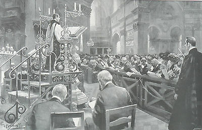 1902 Large Print - St. Paul's Cathedral Thanksgiving - Edward, Prince of Wales