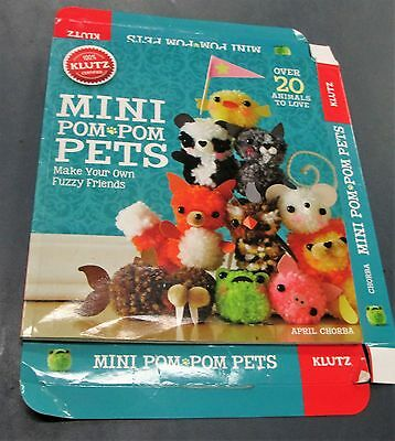 Mini Pom Pom Pets Softcover Instruction Booklet Manual