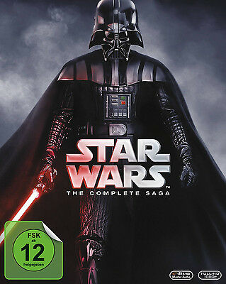 Guerra Delle Stelle Star Wars 1 2 3 4 5 6 Complete Saga 9 Blu-Ray Collection Box