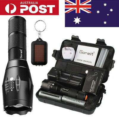 20000LM X800 L2 CREE LED FLASHLIGHT RECHARGEABLE TORCH 2x BATTERY