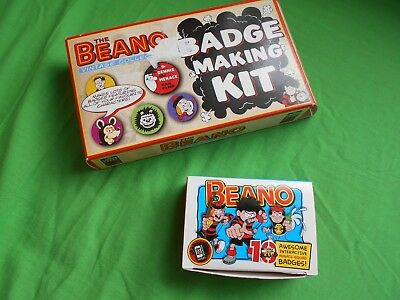 2 dennis the menace beano comic badge sets in boxes cases boys figure top kids