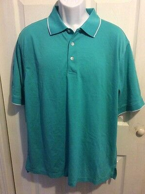 Alan Flusser turquoise golf polo size L shirt nwt new top