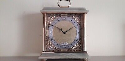 Beautiful Azizoff Of London Brass & Onyx Carriage Clock In Working Condition