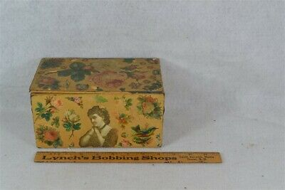 box wall paper die cut advertising folk art OOAK Victorian original 19th antique