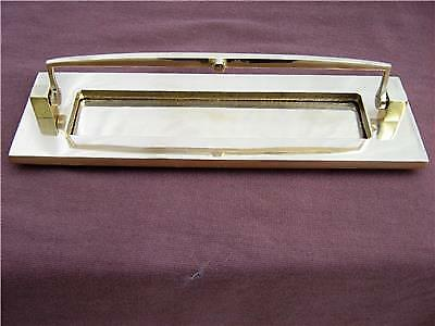 Letterbox  Brass posting box Door knocker New in Homebase packaging