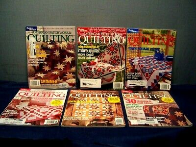 LOT of 6 AMERICAN PATCHWORK & QUILTING MAGAZINES COMPLETE YEAR 2004 PATTERNS